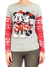 Mickey & Minnie Mouse Christmas Fair Isle Long Sleeve T-Shirt