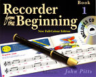 Recorder from the Beginning Book 1/CD Learn to Play & Read Music Tutor Method