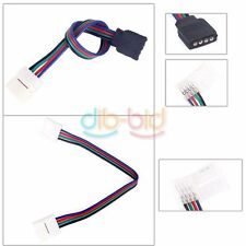 Nuovo 4 perno 2 Way Solderless connettore cavo adattatore per 5050 RGB LED Strip