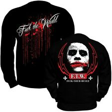 Pullover Sweatshirt Fuck Your Rulez F.T.W. joker clown premium ink street blood