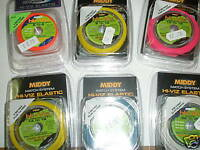 Middy Hi-Viz Pole elastic 6m spool 3-4 MATCH GREEN