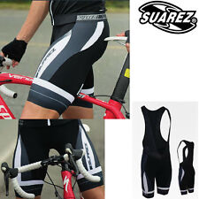 Suarez Mens Professional Elite Bib Shorts XL - Black With Grey & White Detailing