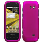 PINK RUBBER HARD SKIN FACEPLATE RUBBERIZED CASE COVER FOR SAMSUNG TRANSFORM M920