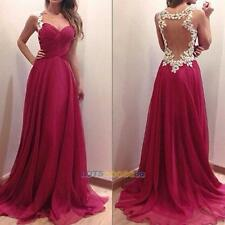 NEW Women Bridesmaid Ball Prom Gown Formal Evening Party Cocktail Long Dress