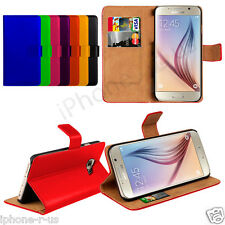 Genuine Leather Stand Wallet Flip Phone Case Cover For Samsung Galaxy S6