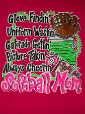 NEW Hot Gift Southern Chics Funny Softball Mom 1  Pink Girlie Bright T Shirt