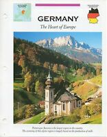 FFA - Germany The Heart of Europe - Western Europe - Fact file Card