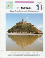FFA - France From the Atlantic to the Mediterr - Western Europe - Fact file Card