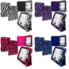 Color Zebra Folio Pouch Holder Case Cover Stand for Nook Simple Touch Reader