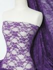 Purple flower soft stretch lycra lace Q137 PPL