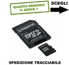 MEMORIA SECURE DIGITAL MICRO SD KINGSTON VERBATIM TOSHIBA 4GB 8GB 16GB 32GB 64GB