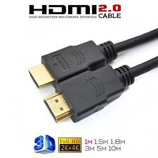 1M/2M/3M Ultra Speed Gold Plated HDMI Cable 2.0 with Ethernet HDTV XBOX 4K 1080P