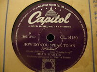 Dean Martin How Do You Speak To An Angel 78 RPM Record