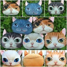 3D Cute Cat Face Soft Pillow Nap Cushion Case Cover Home Decor Toys Dolls Gifts