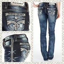 NEW Buckle ROCK REVIVAL Low Rise Ruella Straight Stretch Jean 24,27,28,29,32