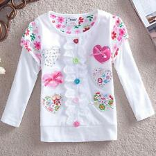 100% cotton baby kid girls long sleeve tops Spring clothes.girls outerwear heart