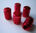 All Red Alloy Dust Valve Caps for Mitsubishi Colt Evo Lancer Shogun L200 ASX FTO