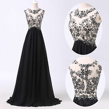 CHEAP Vintage Beaded Long Chiffon Evening Prom Party Formal Bridesmaid Dresses