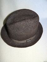 NEW KANGOL MENS NATURAL STRAW PLAYER TRILLBY FEDORA HAT CAP LARGE