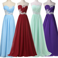 CHEAP FOR Long Bridesmaids Evening Dresses PROM Party Cocktail Ball Gown Wedding