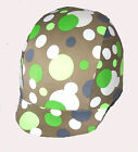 Ecotak brown with polka dot pattern lycra horse helmet cover