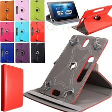 "Universale 360° Rotante Pelle PU Grip Custodia Cover Stand Per 7""8""9""10"" Tablet"