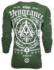 Archaic AFFLICTION Mens THERMAL Shirt VENGEANCE Biker American Fighter M-3XL $58