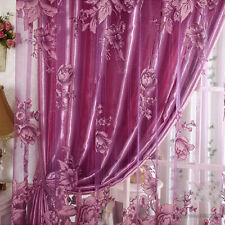 Home Room Floral Tulle Window Curtain Balcony Screening Drapes Scarf Valance New