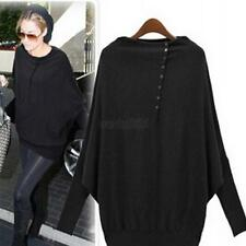 Fashion Women's Batwing Sleeve Oversized Knit Sweater Loose Jumper Pullover Tops