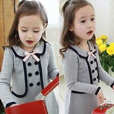 Winter Warm Long Sleeve Toddler Kid Dress Coat Baby Children Pullover Jacket F99