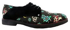 Iron Fist Slacker Howlers Black With Goth Skull Men's Lace Up Canvas Shoes New