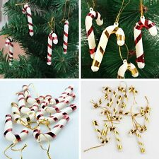 10PCS Christmas Candy Cane Ornaments Party Xmas Tree Hanging Decoration Decor