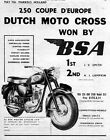 1961 BSA 250 Star C-15 Motorcycle Original Ad