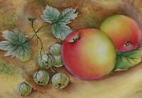 Exquisite Fruit Painted Plate By David Bowkett (Former Royal Worcester Artist)