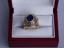 US NAVY ENGRAVED MILITARY RING SIZES 8-14 BLUE CZ W/GIFT BAG VETERANS OR ACTIVE