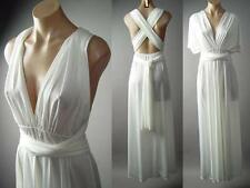 Grecian Goddess White Multi-Way Convertible Magic Gown Long 131 mv Dress S M L