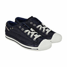 Diesel Exposure Low Mens Blue Denim Lace Up Sneakers Shoes
