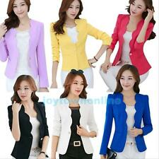2015 New Women's One Button Slim Casual Business Blazer Suit Jacket Coat Outwear