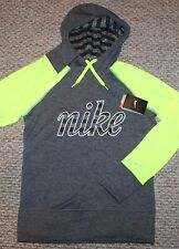 New! Womens Nike Therma Fit Hoodie Sweatshirt (Gray/Yellow) - XSmall XS, Small S