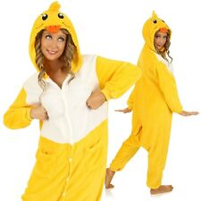 Adult Yellow Duck Onesie Costume Funny Animal Suit Pyjama Party Outfit