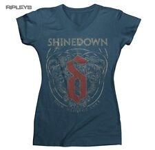 Official Ladies Skinny T Shirt SHINEDOWN ~ Filigree Heart Vintage All Sizes