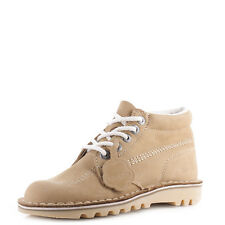 Womens Kickers Kick Hi Core Tan Natural Nat Leather Lace Up Ankle Boots SZ SIZE