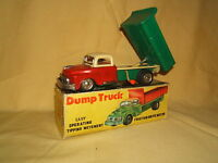 VINTAGE  FRICTION DRIVEN TINPLATE  MODEL No.XXX DUMP TRUCK     VN MIB