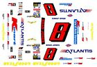 #8 Brad Jones Atlantis Chevy 1/64th HO Scale Slot Car Waterslide Decals