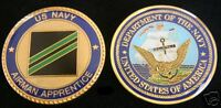 CHALLENGE COIN US NAVY AIRMAN APPRENTICE E-2 PIN USS