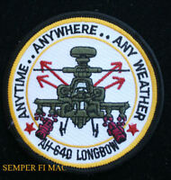 AH-64 APACHE US ARMY HELICOPTER PATCH ANYWHERE ANYTIME ATTACK RECON AIR CAV WOW