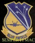 US NAVY BLUE ANGELS HAT PATCH NAS PENSACOLA F-18 MARINES MCAS AIRSHOW PIN UP WOW