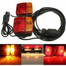 Pair Magnetic Caravan Towing Boat Trailer Brake Side Marker Light Indicator Lamp