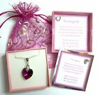 Crystal Heart Necklace made with Swarovski Elements Bridesmaid or Valentine Gift