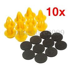 10 pcs Interior Door Card Panel Fixing Trim Clips Rivets For VW AUDI SHARAN FORD